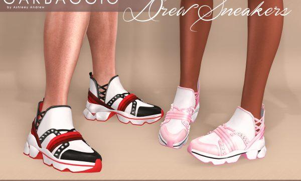 Drew Sneakers. ★ L$99 per single. L$299 per mini packs. L$499 for Fatpack.