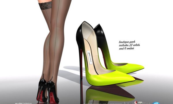 So Chic Stilettos & Stockings. ★ L$295 per pack / Fatpack is L$1,295.