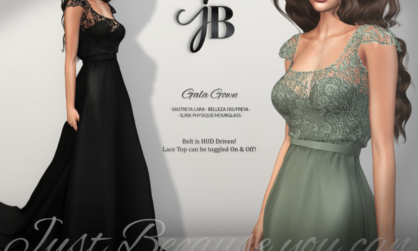 Gala Gown. ★ L$249 per single. L$1,999 for Fatpack.