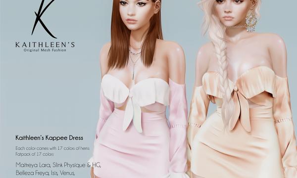 Kappee Dress. ★ L$275 per single. Fatpack is L$1,799.