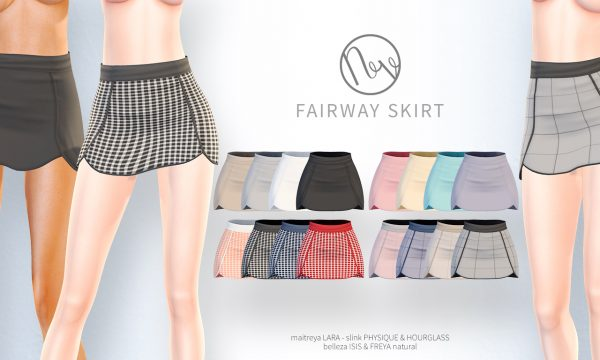 Fairway Skirt. ★ L$200 per color / Fatpack is L$600.