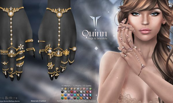 Quinn Rings & Bracelets.  L$499.