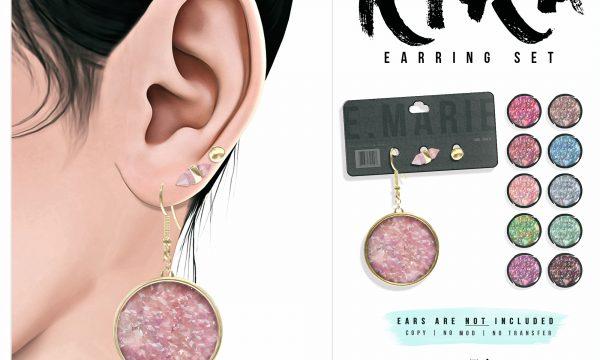 Kira Earring & Necklace Set. Earrings is L$200.  Necklace is L$200.