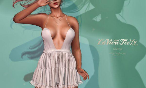 Lia Dress.  L$189 per single. L$500 per mini packs.