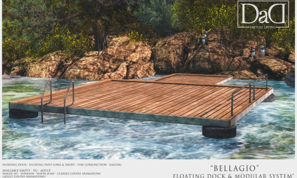 Bellagio Floating Dock & Modular System.  Decor is L$490 / PG is L$750 / Adult is L$1,500.