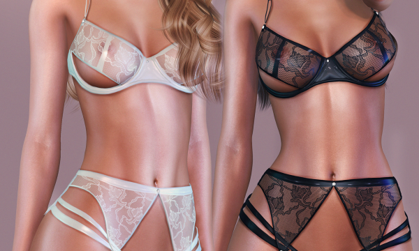 Angelica Lingerie. L$345 each / Fatpack is L$1,499.