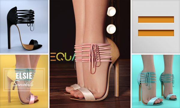Elsie Sandals - L$250 each / Fatpack is L$850. ★ 🎁