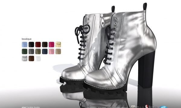 Star Boots. Color Packs are L$295 each / Fatpack is L$1,295. ★