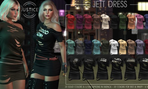 Jett Dress. L$250 each / Print Packs are L$600 each / Fatpack is L$1,200. ★ 🎁