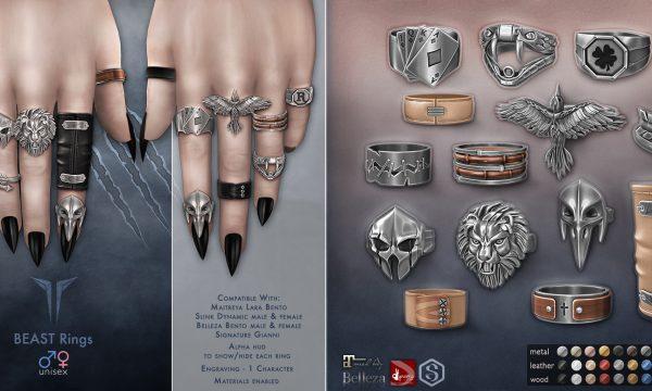 Beast Rings Set. L$499. ★ 🎁