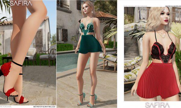 Blume Dress & Heels. Dress is L$249 each. Heels is L$499. Fatpack is L$1,299. 🎁