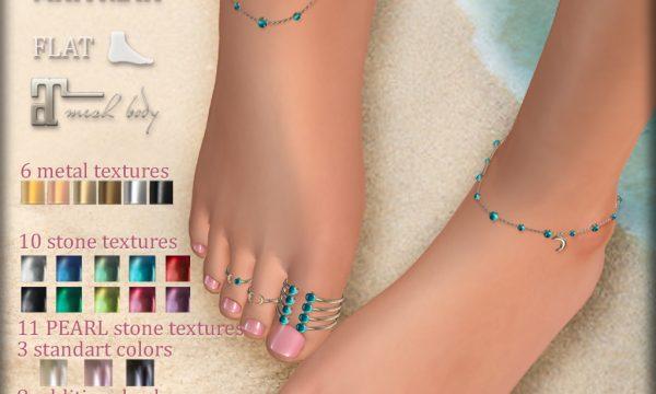 KIRA Anklets & Toe Rings. L$250.
