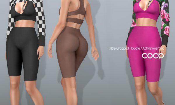 Ultla Cropped Hoodie & Activewear Set. Hoodie is L$225 each. Activewear is L$250 each. Fatpacks are L$1,299 each. Demo Available.