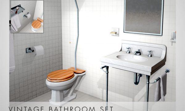 Vintage Bathroom Set. L$450.