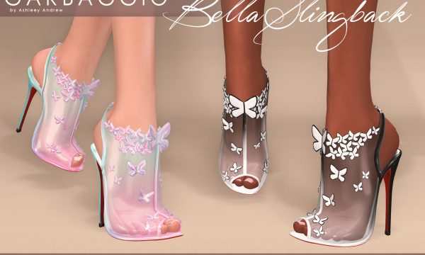 Bella Slingback Shoes. L$99 each. Mini Packs is L$299 each. Fatpack is L$499. Demo available.