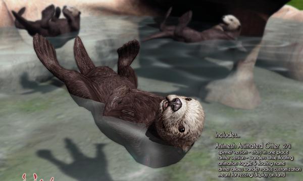 Sea Otter Exhibit & Floaters. L$600.