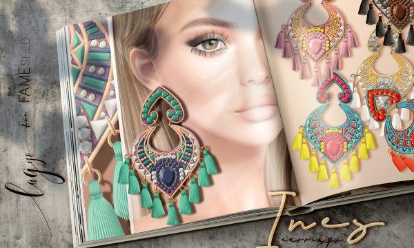Ines Earrings. L$150 each. Fatpack is L$700.