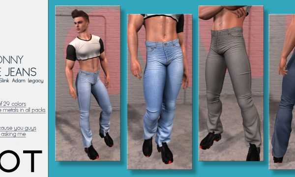 Donny Flare Jeans. L$199 each. Fatpack is L$1,299.  Demo Available. ★