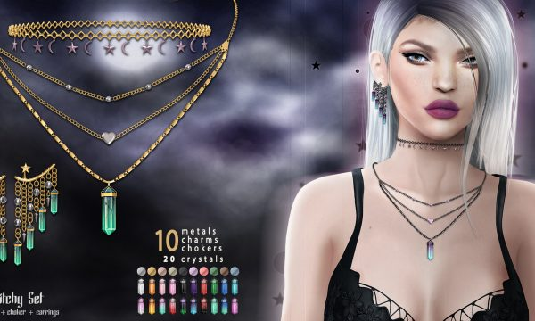 Witch Set. Includes Necklace, Choker and Earrings. L$299.