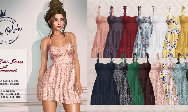Eden Dress. L$230 each. Fatpack is L$1,300. Demo Available. ★