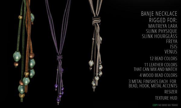 Banje Necklace/Bracelets. Bracelets is L$199. Necklace is L$299. Fatpack is L$399.