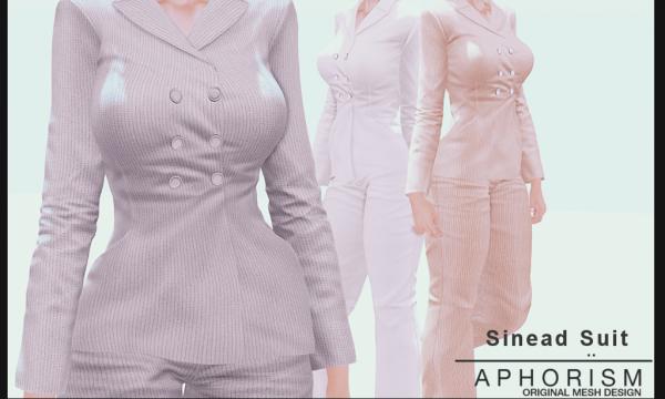 Sinead Suit Jacket & Sinead Suit Pants. Jacket L$289 each. Pants L$199 each. Suit Fatpack is L$1,949. Demo Available ★