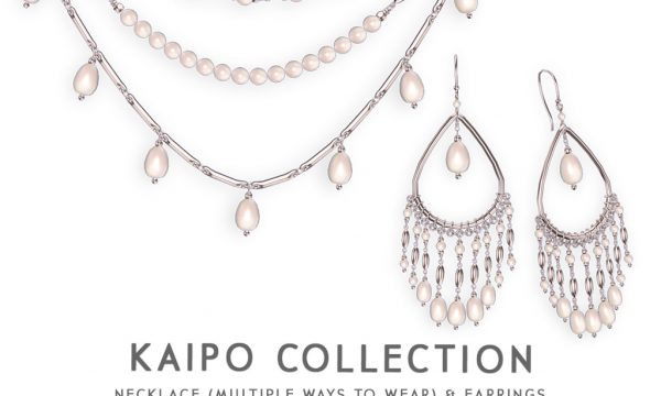 Kaipo Set. Earrings L$245. Necklace L$445. Fatpack L$545.