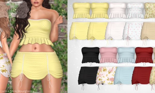 Maddy Top & Skirt.  Top - L$199 each, Skirt - L$199 each | Fatpack is L1,099 each. Demo Available ★