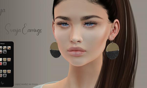 Svenja & Smilla Earrings. L$199 each.
