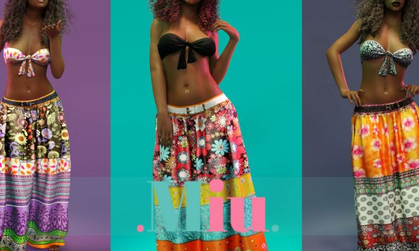 Willow Knotted Bra & Boho Skirt. Individual - Bra L$250 each | Individual - Skirt L$330 each | Fatpack L1,500 each.  Demo Available ★