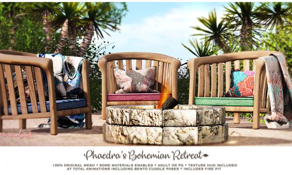 Bohemian Retreat. PG L$199 | Adult L$249.