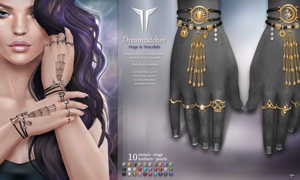 Dreamcatcher Bracelets & Rings. L$399. Demo Available ★