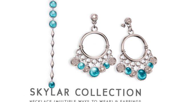 Skylar. Necklace is L$395 each. Earrings is L$245 each.. Fatpack is L$495.