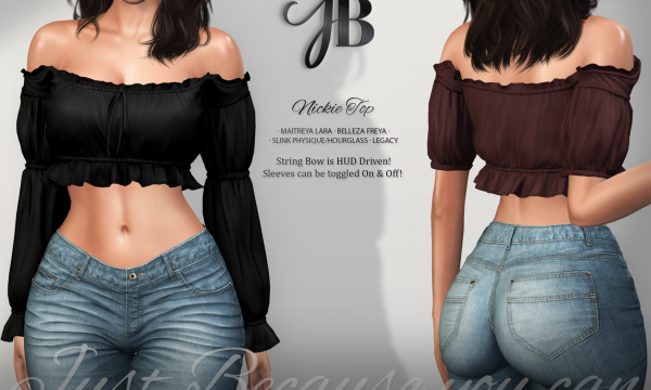 Nickie Top. L$249 each. Fatpack is L$1,299. Demo available ★.