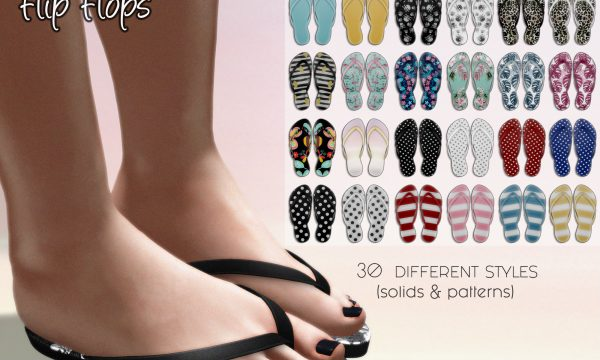 Flip Flops. L$75 each. Fatpack is L$495. Demo available.