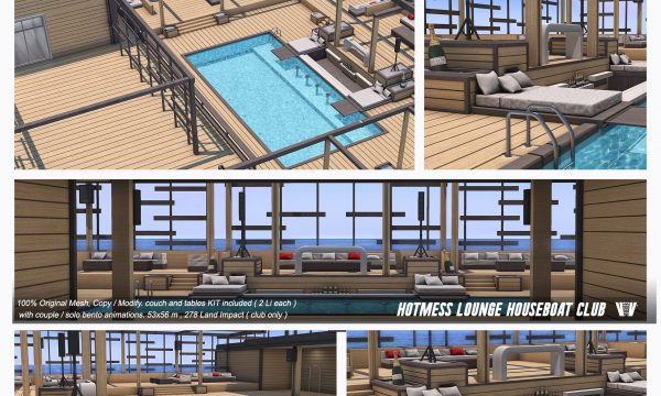 Hotmess Lounge Houseboat Club. L$999.
