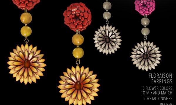 Floraison Earrings. L$149.
