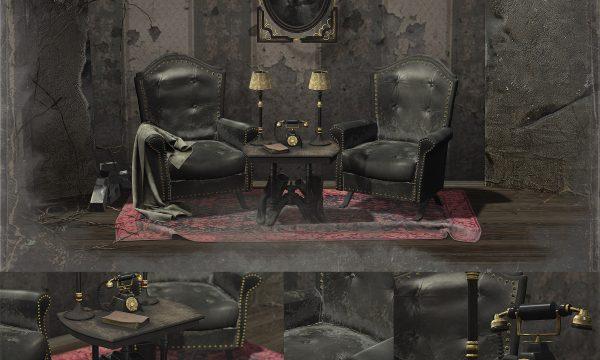 DRD - October Corner. Armchairs PG L$475 | Armchairs Adult L$575 | PG Set L$775 | Adult Set L$875 | Decor Set L$375.