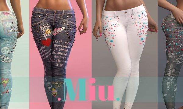 Miu - Maia denims. Individual L$350 each | Fatpack L$1,701. Demo available ★