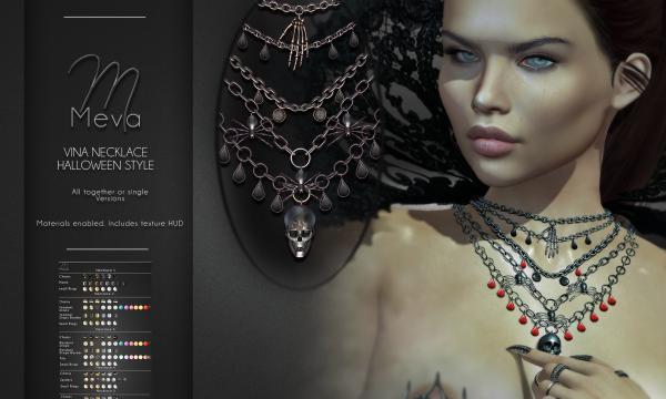 Meva - Vina Necklace | Vina Necklace Halloween Style. Individual L$ 320.