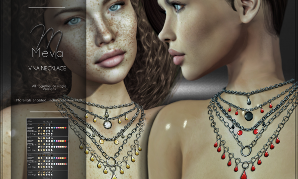 Meva - Vina Necklace | Vina Necklace Halloween Style. Individual L$ 320.