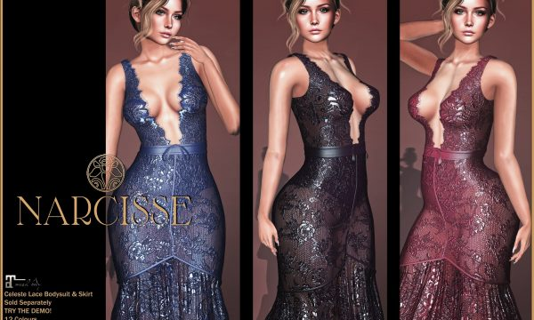 Narcisse - Celeste Bodysuit and Skirt. Individual L$199 |  Fatpacks L$899 Demo Available ★.