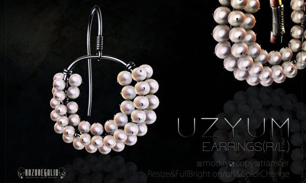 ROZOREGALIA - Uzyum Earrings. L$230 Demo available.