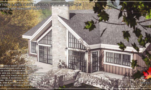 Trompe Loeil -  Peyton Lake Cottage. L$575 | Snow Add-on L$100.