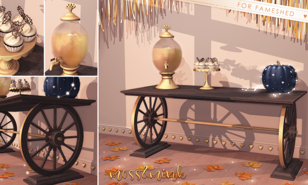 moss&mink - Fall Set. Decor Pieces L$128 each | Fatpack L$348.