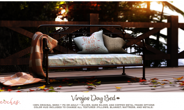 .peaches. - Virajas Day Bed. PG L$199 | Adult L$249.