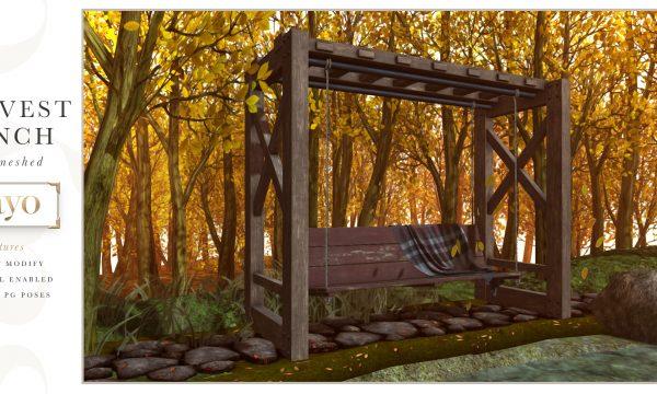 SAYO - Harvest Bench. PG L$200 | Adult L$400.