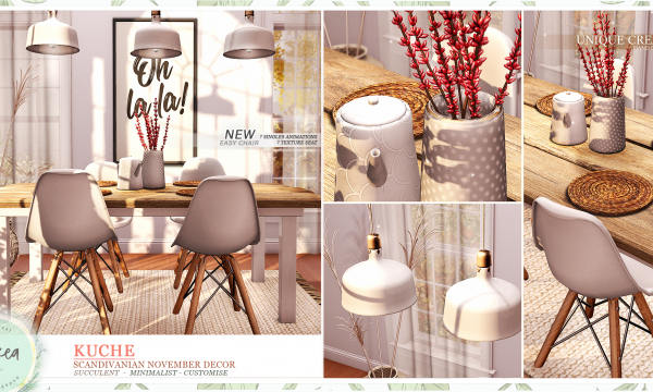 ariskea - Kuche Scandinavian November Decor. Decor Pieces L$89 - L$249 each | Fatpack L$999.