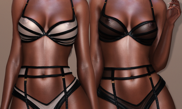 Dhoma - Veronique Lingerie. Individual L$475 each | Fatpack L$1,295  Demo Available.
