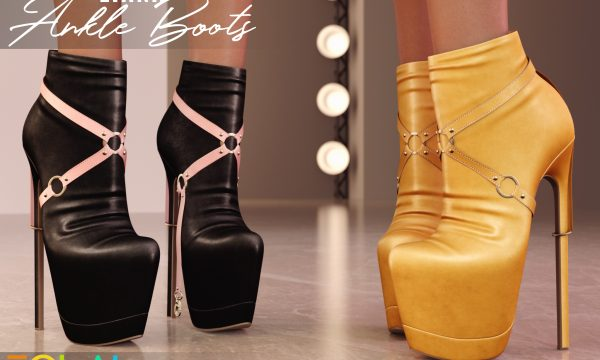 EQUAL - Liana Ankle Boots. Individual L$250 each | Fatpack L$1,199 Demo Available ★.
